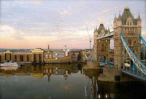Dawn on the Thames by Jon Berry