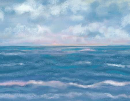 Day break sea by Christine Fournier