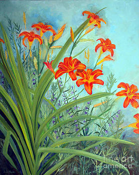 Day Lilies by Laura Tasheiko