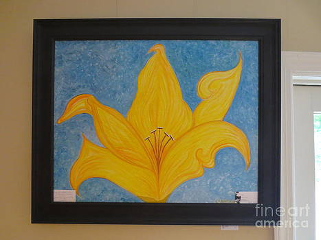 Day Lily 30 by 24 by Sandra Spincola