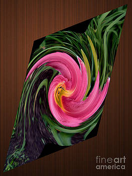 Daylily Bloom In Digital Abstract by ImagesAsArt Photos And Graphics