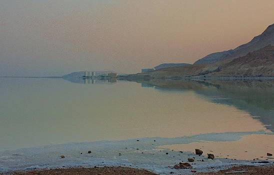 Dead Sea Sunset by Linda Russell