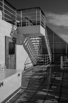 Marilyn Wilson - Sports Deck Stairway - b/w