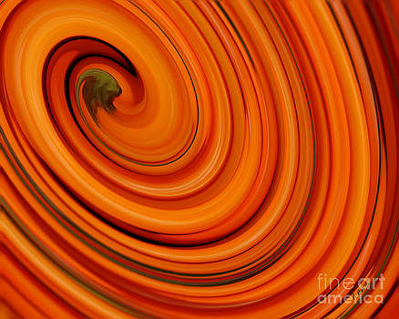 Deep Orange Abstract by Andrea Auletta