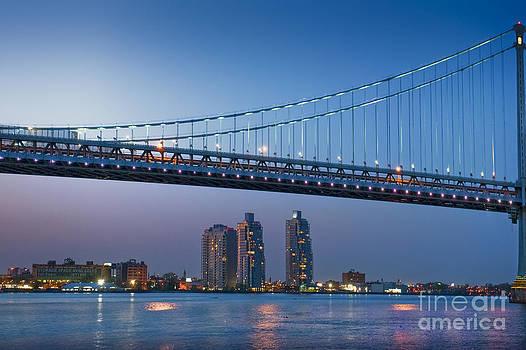 David Zanzinger - Delaware River Ben Franklin Bridge Downtown Night Phila PA