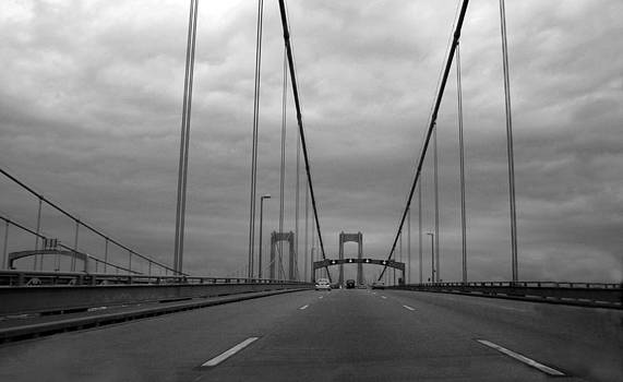 Delaware-Twin Bridges--bw by Harold E McCray