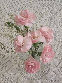 Delicate Pink Flowers by Good Taste  Art