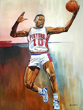 Dennis Rodman Bad Boy Pistons by Michael  Pattison