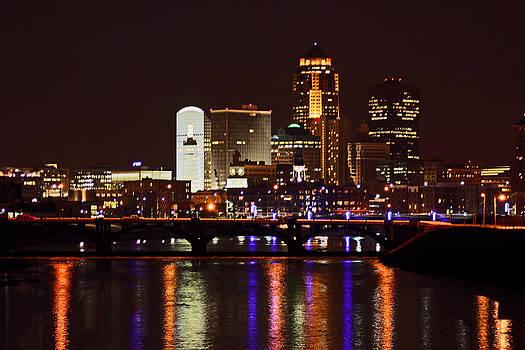 Jon Baldwin  Art - Des Moines Cityscape