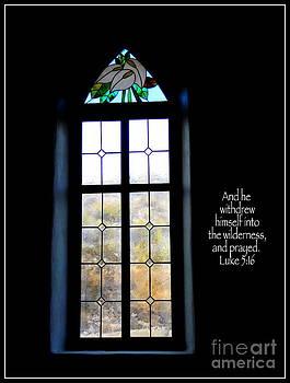 Desert Church Window with Scripture by Avis  Noelle