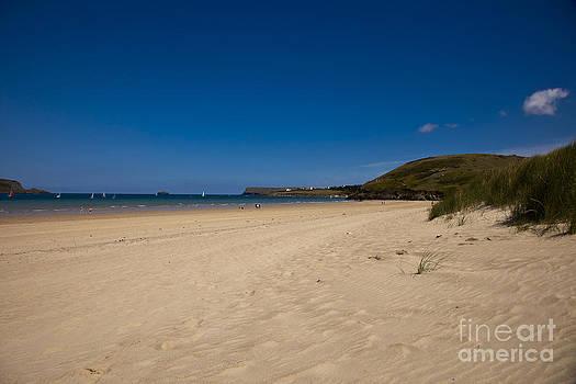 Deserted sandy beach by Anthony Morgan