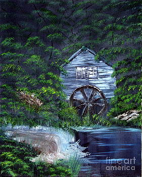 Deserted Water Wheel House by Edward C Van Wicklen Sr