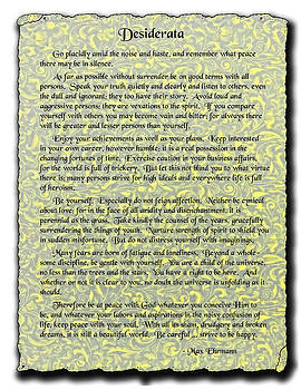 Desiderata 3 by Mike Flynn