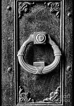 Detail of gate BW by Mount Athos