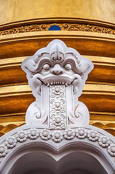 Jenny Rainbow - Detail of the Buddhist Dagoba in Golden Temple. Dambulla