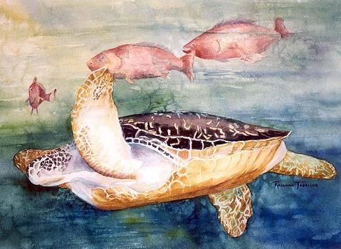 Determined - Loggerhead Sea Turtle by Roxanne Tobaison