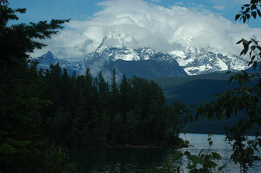 Developing Clouds Over Glacier by Larry Moloney
