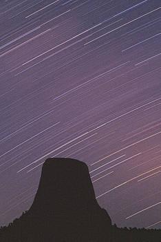Devils Tower Star Trails by Judi Baker