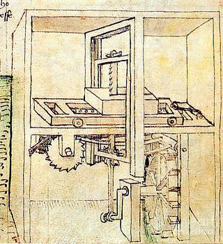 Science Source - Di Giorgio Invention Hydraulic Saw Mill