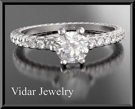 Diamond 14k White Gold Engagement Ring  by Roi Avidar