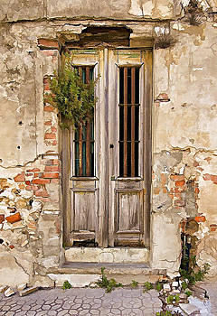 David Letts - Dilapidated Brown Wood Door of Portugal
