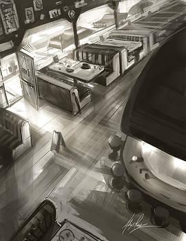 Diner Interior by Alex Ruiz