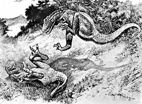 Science Source - Dinosaurs Fighting