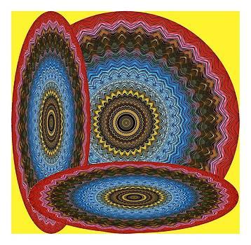 Disc Plate Kaleido Design by Ck Gandhi