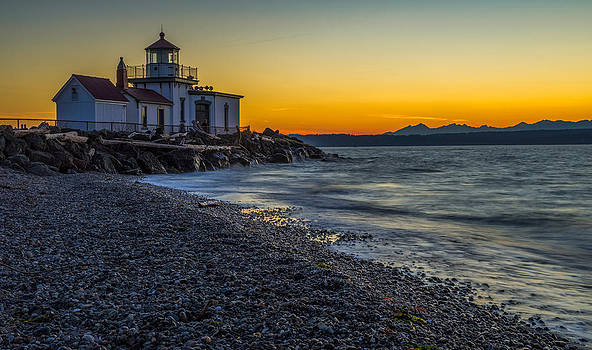 Discovery Park Sunset by Ken Stanback