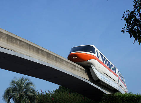 Disney Monorail by Laurie Poetschke