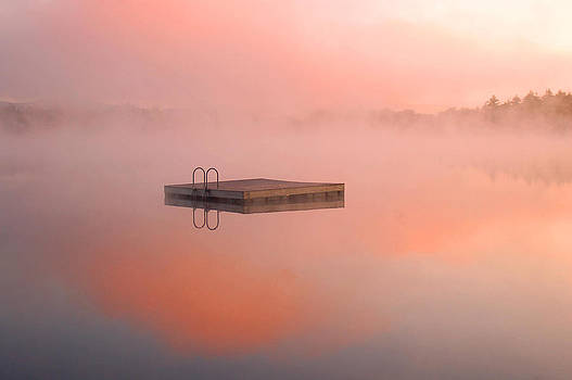 Distant Dock at Sunrise by Lucia Vicari