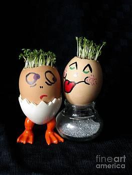 Do You Lick Me? Easter Eggmen Series by Ausra Huntington nee Paulauskaite