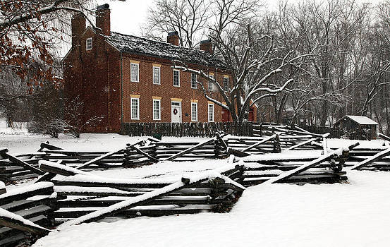 Doak House in Winter by Dave Ross