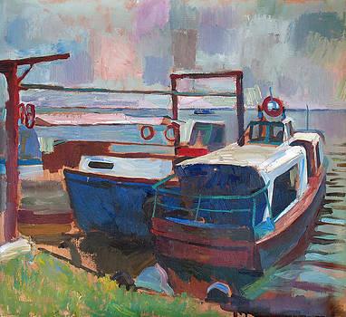 Dock at Sergeevka by Yuri Yudaev