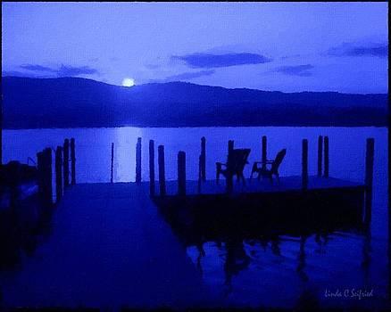 Docks at Moonrise by Linda Seifried