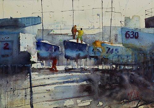 Dockyard at Keroman by Andre MEHU