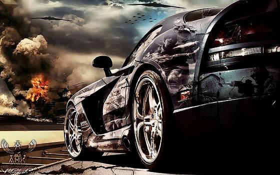 Dodge Viper - War Scene by A.H.K by Abdollah Hamodzadeh