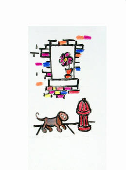 Dog and the Hydrant by Shelley Overton