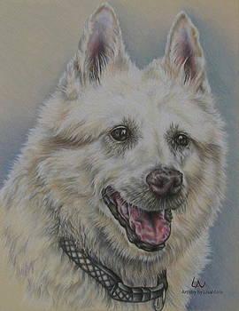 Dog Portrait of Shep Mix by Lisa Marie Szkolnik