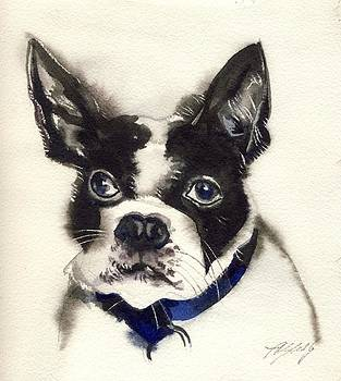 Alfred Ng - dog watercolor