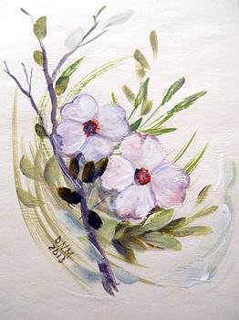 Dogwood Blossom Card by Dorothy Maier