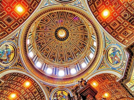 Dome of St. Peter's Basilica by Ravi S R