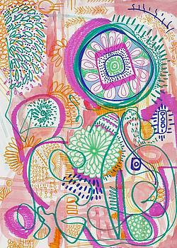 Doodle Abstract by Rosalina Bojadschijew