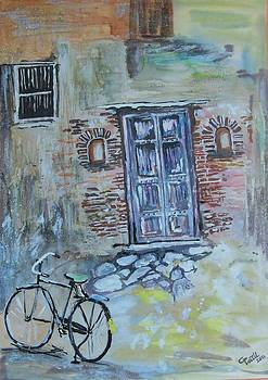 Door And Cycle by Chandra Patil