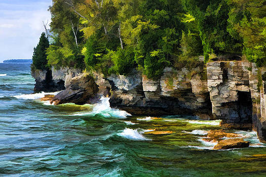 Christopher Arndt - Door County Cave Point Cliffs