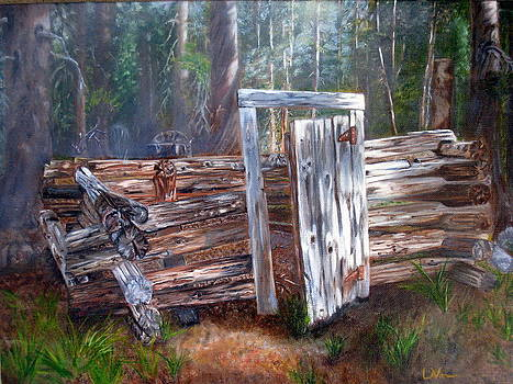 Door to a Rustic Past by LaVonne Hand