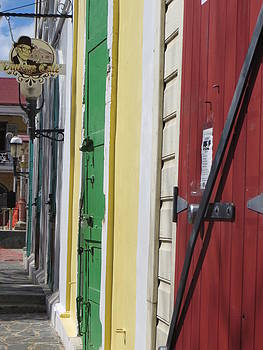 Doors of St. Thomas USVI  by Jean Marie Maggi