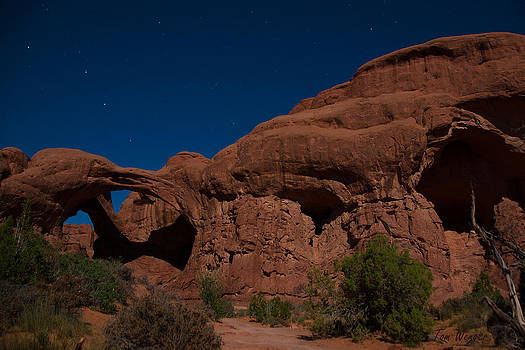 Double Arch at Night by Tom Wenger