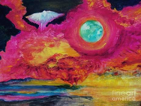 Dove in Flight by Myra Maslowsky
