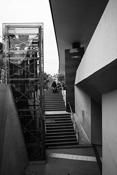 Down the station's stairs by Spyros Papaspyropoulos